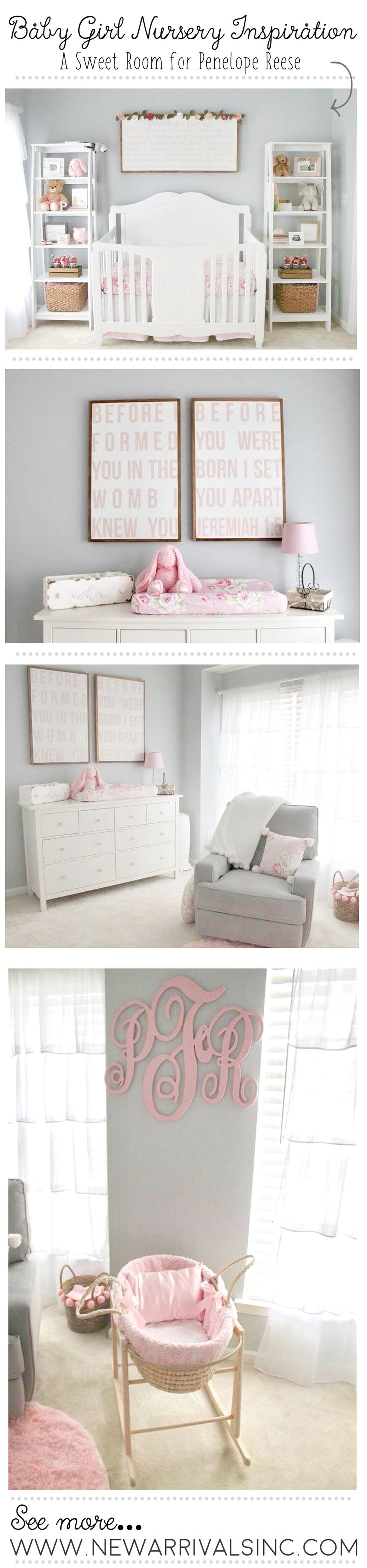 Baby Girl Nursery Inspiration | Floral Baby Bedding & Nursery