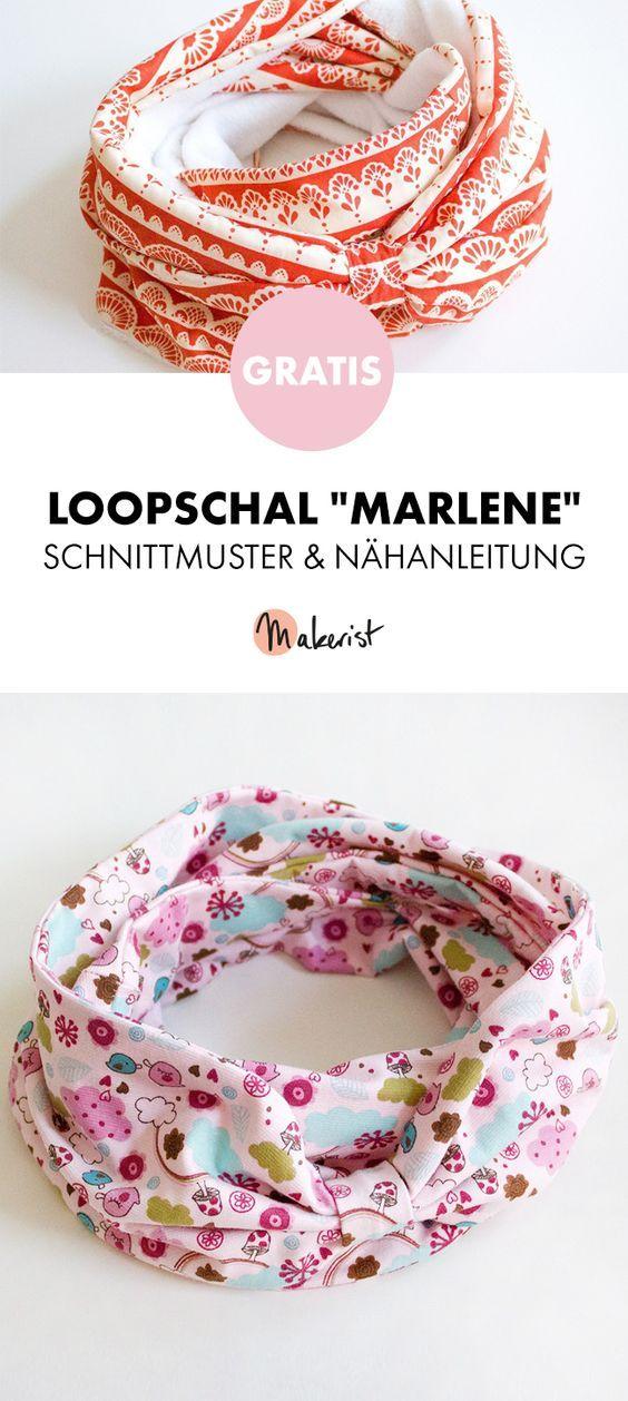 Gratis Anleitung: Loopschal nähen - Schnittmuster und Nähanleitung via Makerist.de