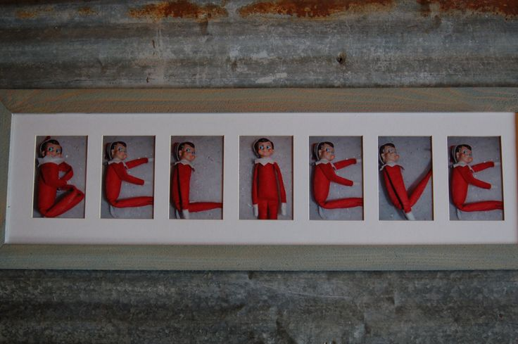 Christmas Elf Believe sign elf on the shelf. Could make self simply using mats and printed pictures