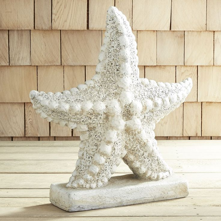 Wish upon a starfish to add some tide-pool magic to your outdoor decor.  Our starfish is handcrafted of stone and given an antique white finish and will grant you coastal chic for years to come.