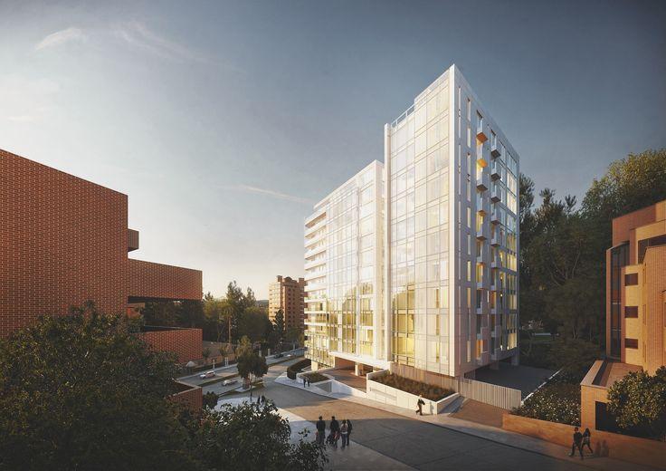 Richard Meier Designs Two-Tower Residential Development for Bogota,East View. Image Courtesy of Richard Meier & Partners