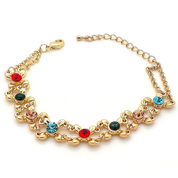 Buy Beora #Gold Plated Colorful Crystal #Bracelet #Bangle at just Rs.399.00 From #trendymela. We offer free shipping and Cash on Delivery (COD) all over the #India.