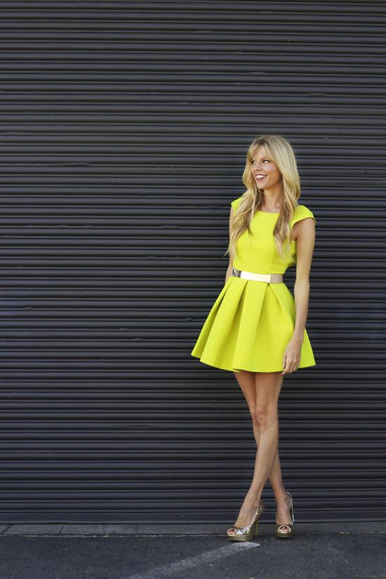NEON YELLOW dress love, wear it with a glow in the dark Yellow Goddess Ring, available for just $69 at www.lotusmendes.com xxx