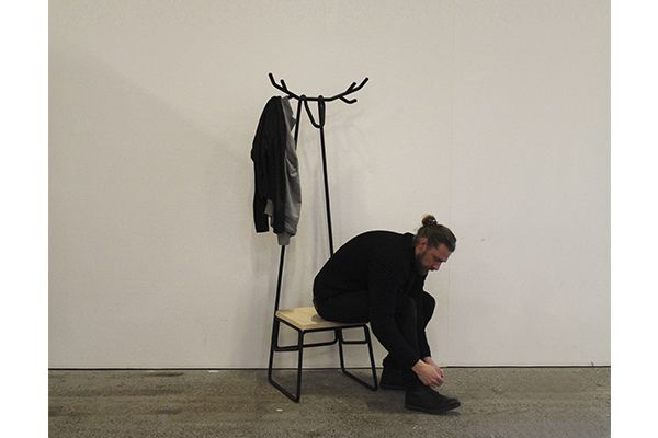 Hjörtr hallstand is a multifunctional, modern and Nordic inspired hallstand combining chair, coat racks and a hunting trophy into one unit. The idea behind the hjörtr hallstand was to create a piece of hall furniture, which would fit in a small and narrow hallway, but still would allow room to hang one's jacket and sit to take shoes on and off.. Hjörtr hallstand is built around a metal structure made of 20 mm steel tubes, which are powder-coated in charcoal gray. The choice of ash for the…
