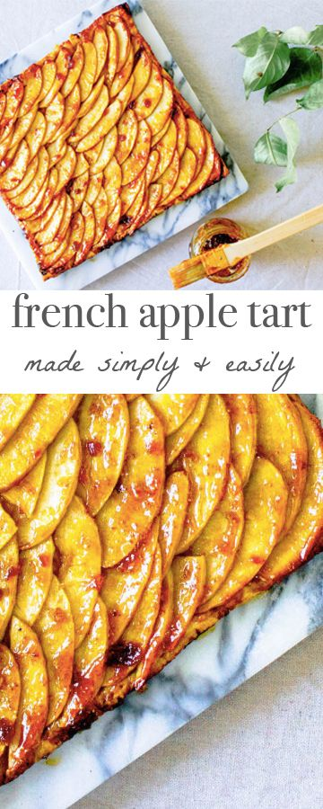 French Apple Tart - easy & delicious! Recipe via MonPetitFour.com