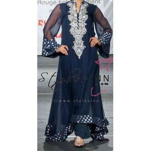 Designer's Chiffon A-Line Long Shirt Outfit - StylesInn (Pakistani Designers Wear)