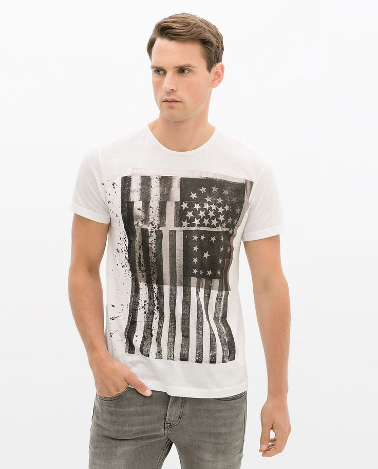 Image 2 of FLAG T-SHIRT from Zara
