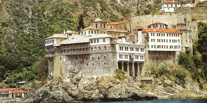 VISIT GREECE  Monastery of Gregoriou in #Athos #Macedonia #Greece