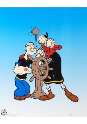 POPEYE ''Popeye Captain's Wheel'' Sericel