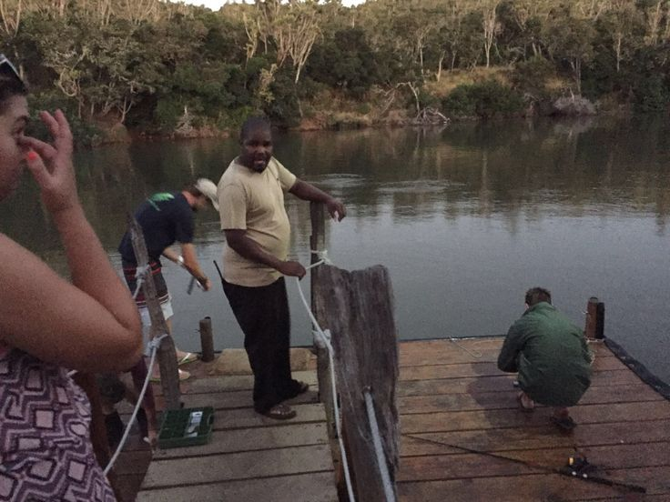 Time for some fishing in the Kariega River from a jetty at Sibuya Game Reserve in Kenton on Sea, Eastern Cape, South Africa www.sibuya.co.za