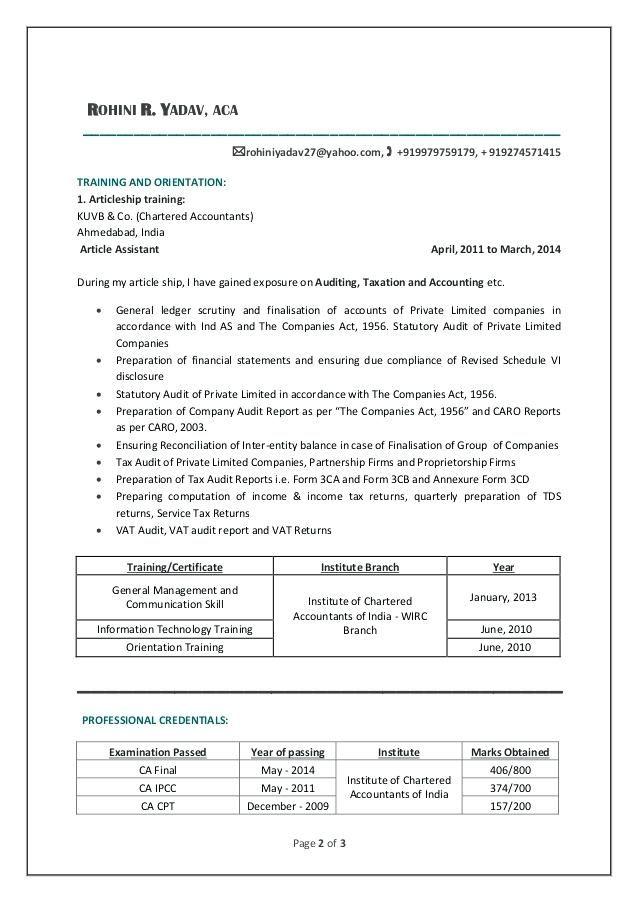 Resume Templates For Articleship 98 Resume Sles For Articleship Make
