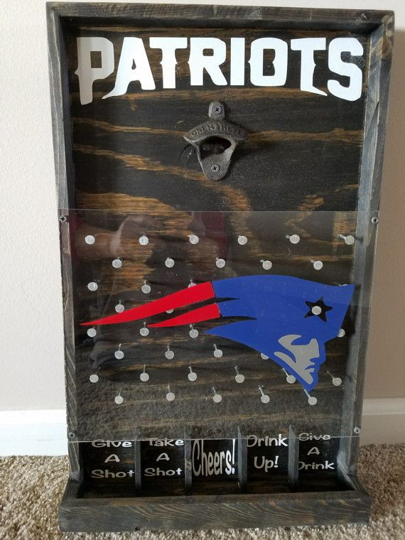 New England Patriots Drinko Plinko Bottle Opener von HoosierWoodbox