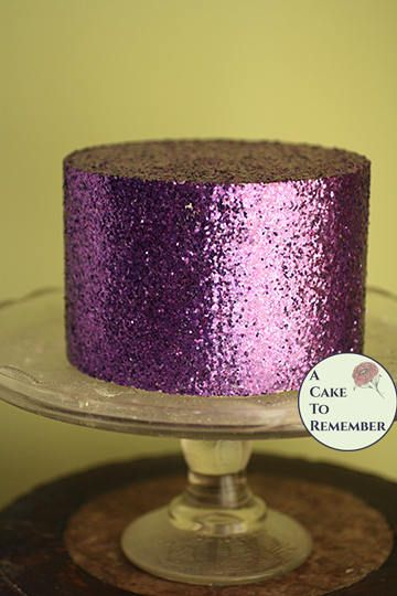 Purple Glitter Cake Faux Cake Birthday Party Decoration