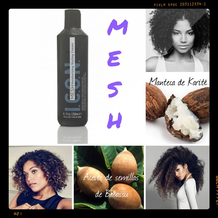 Conocéis ya MESH de ICON??Creado con manteca de Karité y  aceite de semillas de Babassú, MESH, envuelve el cabello en una capa de hidratación, dejando unos rizos flexibles, llenos de vitalidad, agradables al tacto y definidos!!Muy recomendable para cabellos secos rígidos que necesitan movilidad. En cabellos rizados,os dará mucho volumen, un rizo salvaje y desenfadado pero controlado. En cabellos lisos obtendremos una expansión del cabello, aportando mucha densidad y volumen.