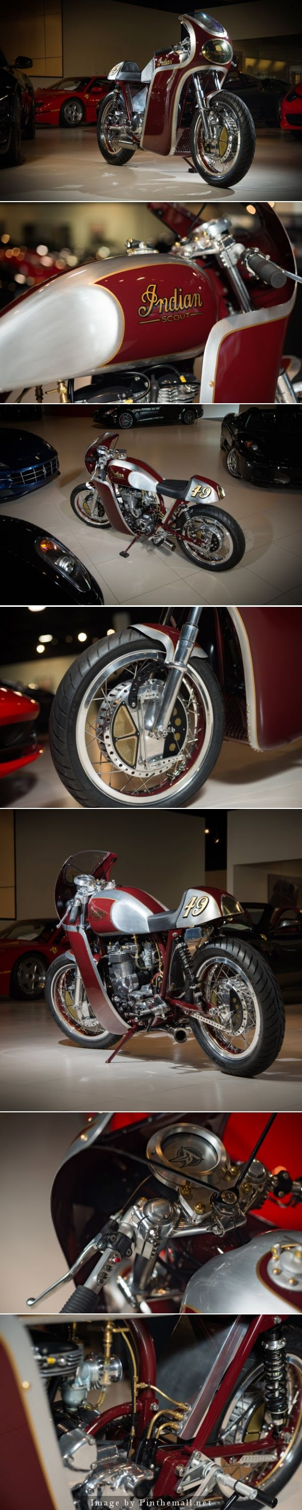 New from Analog Motorcycles: a custom 1940 Indian Scout Click to read more about