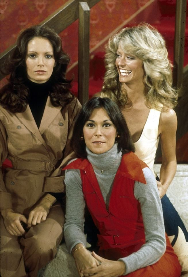 Charlie's Angels. Jaclyn Smith, Kate Jackson and Farrah Fawcett.