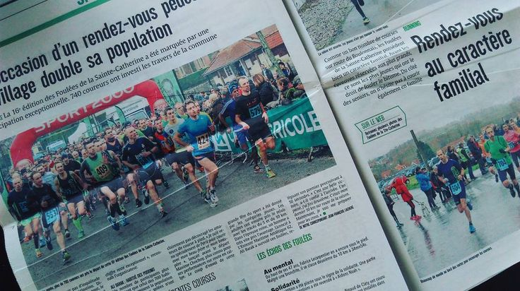 """I posted a new blog! """"About last night: a subzero degrees nocturnal training near the beach"""". .  www.aDutchRunnerinFrance.blogspot.fr . .  On the photo a nice and sympathetic article in the local newspaper of the 10.2KM run last sunday. .  My first race after the marathon of Amsterdam…"""