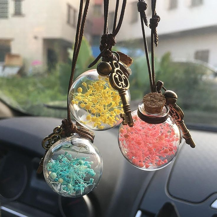 Car Decoration Perfume Container With Wood Cap Cute car