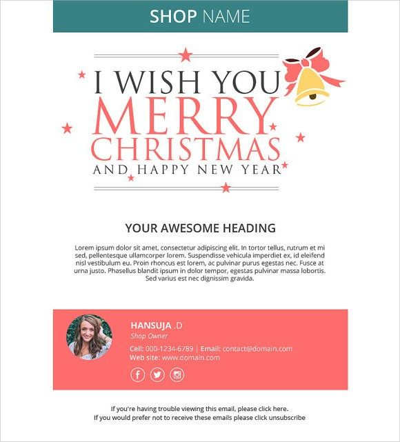 Happy New Year Email Template 5974 Email Christmas Cards Holiday Card Template Free Holiday Card Templates