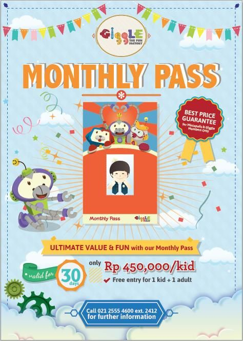 Giggle the Fun Factory: Promo Monthly Pass