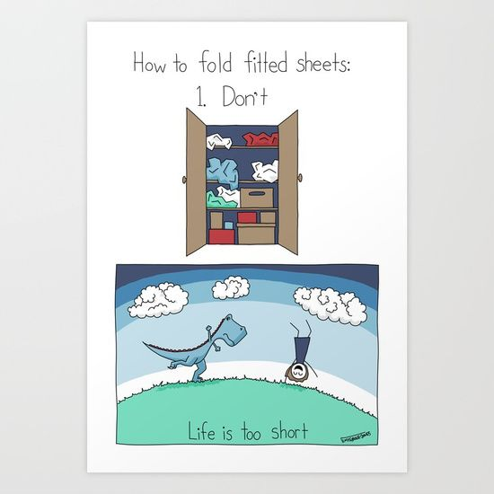 How to Fold Fitted Sheets Art Print