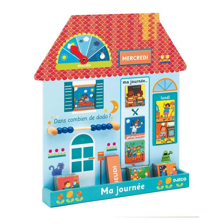 Tableau magnétique maison Ma journée Djeco pour enfant de 3 ans à 6 ans - Oxybul éveil et jeux