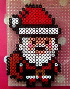Santa Christmas hama beads by Les loisirs de Pat                                                                                                                                                                                 Plus
