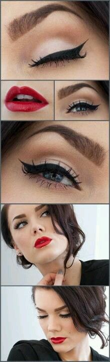 Rockabilly make-up (Lippen dezenter)