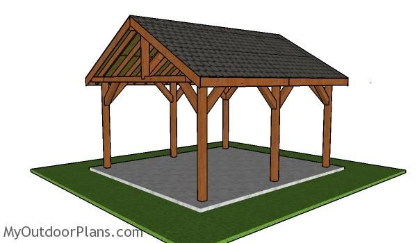 16x18 Pavilion Plans Free Diy Guide Myoutdoorplans Free Woodworking Plans And Projects Diy Shed Wooden Pl Pavilion Plans Gazebo Plans Backyard Pavilion
