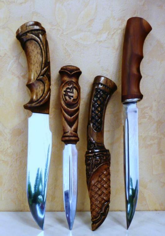 сюрпризом фото резные ручки для ножей из дерева пару