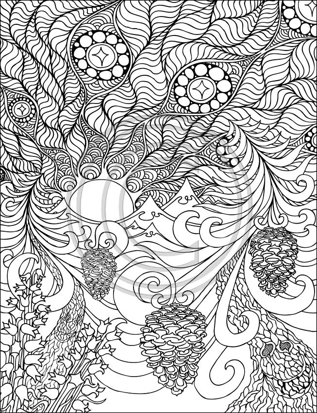34 Best Images About Doodles Mandalas On Pinterest Large Coloring Books For Adults