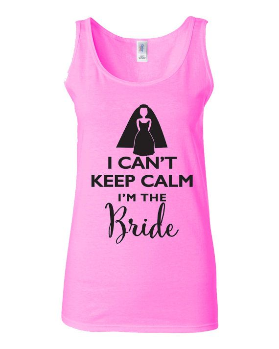 SALE Keep Calm Wedding Party Tank or T-shirt Bride Wedding Bridal Party Mother of Bride, Mother of Groom, Flower Girl tank tops tshirt t-shirt by ArtikIce