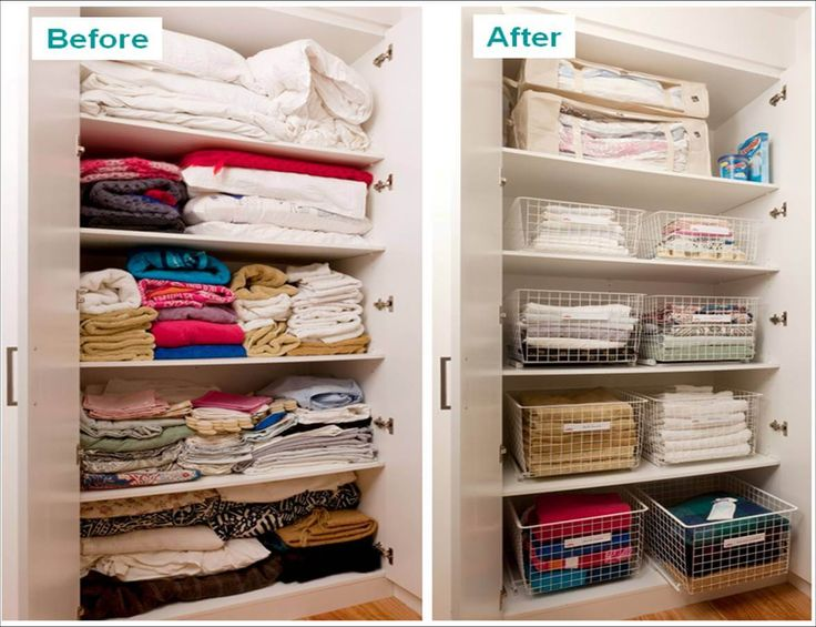 Looking for those wire baskets!   How to organise your linen cupboard | Keep Calm Get Organised