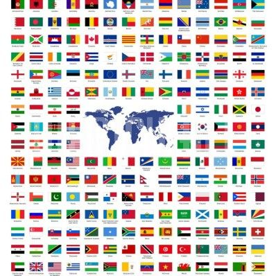 FLAGS FROM AROUND THE WORLD MURAL FOR THE KIDS