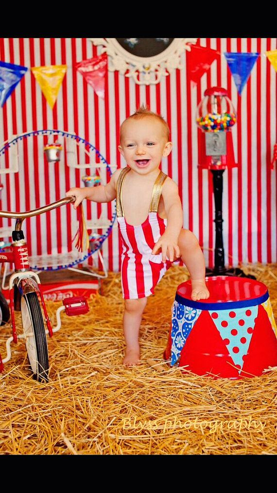 Toddler Boy Wrestling Singlet Circus Strong Man Costume by Leotots