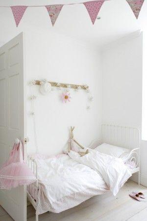 simple white girl's room