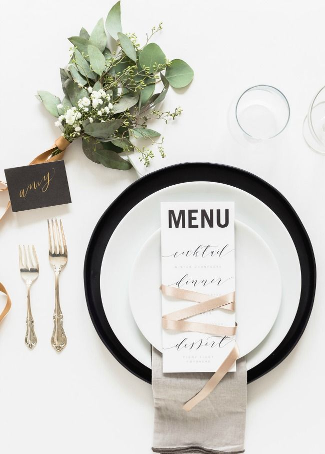setting the table - beautiful menus and place cards that put a table over the top
