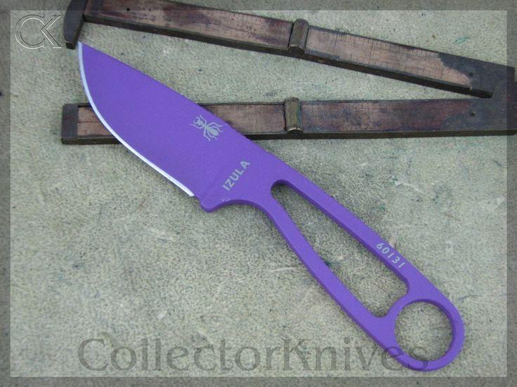 CollectorKnives - ESEE Izula Survival Knife, Purple Handles, 1095 steel, $44.95 (http://www.collectorknives.net/esee-izula-survival-knife-purple-handles-1095-steel/)