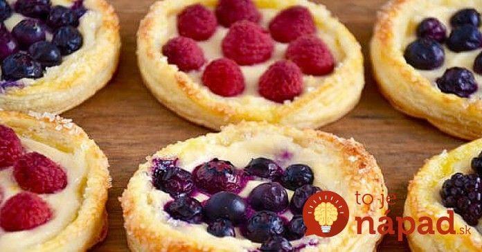 Mini koláčiky z lístkového cesta a ovocia