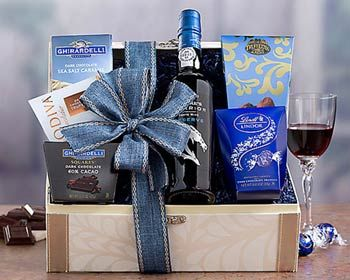Corporate Thank You Wine Gift Basket. See more gifts at www.pro-gift-baskets.com!