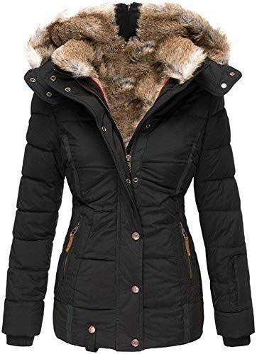 Winter Coats Women, Womens Winter Coat With Fur Lined Hood