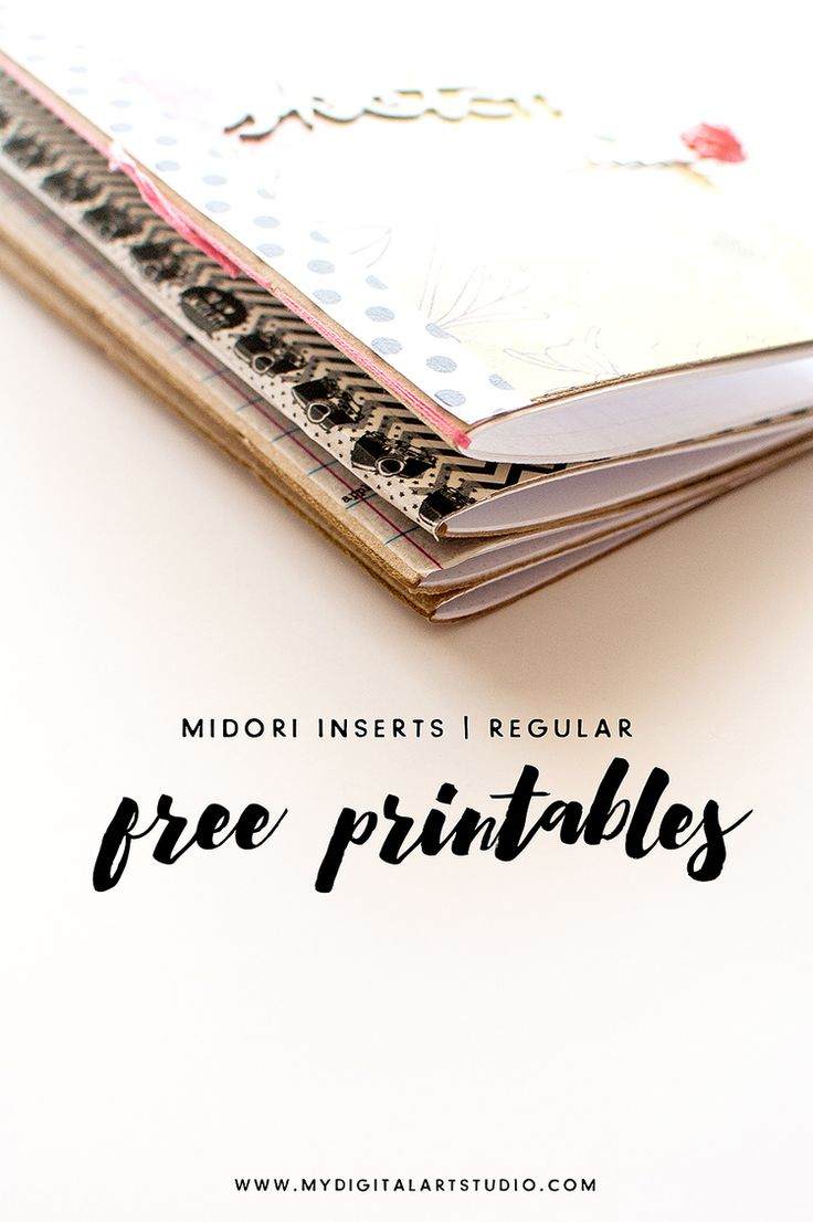 Midori Notebooks | Free Printables | mydigitalartstudio