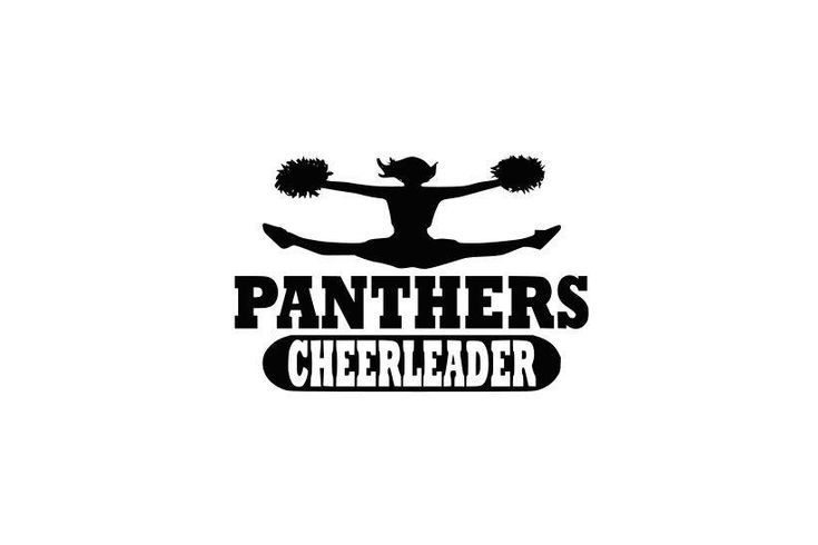 Panthers svg, Panthers Cheerleader svg, Cheerleader svg, SVG, DXF, EPS, Silhouette Studio, Cut Files, Digital Cut Files, Cricut Design by Vinyldecalsworld on Etsy https://www.etsy.com/listing/556767424/panthers-svg-panthers-cheerleader-svg