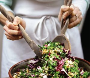 Elyse Kopecky and Shalane Flanagan took to social media to find out what people love to pair with quinoa. This salad is the final result!
