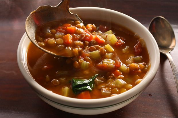 Basic Lentil Soup - finally, one that looks very similar to the one I used to have when I was first married and lost somewhere along the way. Mine called for the carrots to be grated, and didn't call for vinegar or spinach.