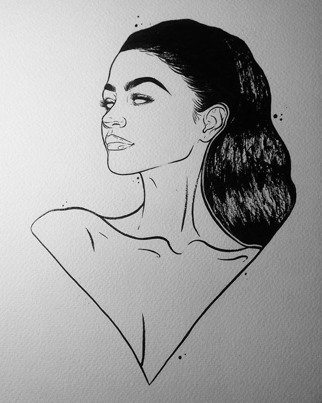@zendaya #TagHerForMe  #illustration #illustrator #art #arte #artists #artist #artistonig #artoftheday #artonig #artwork #artprint #model #zendaya #celeb #celebrity #indianink #ink #beauty #beautiful #pentelbrushpen #brushpen #lineart #linework #contemporary #contemporaryart #portrait #portraits