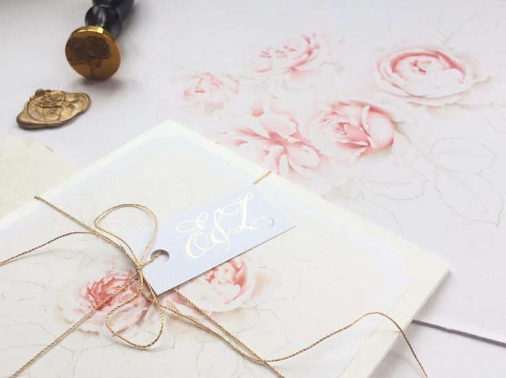 "110 Likes, 11 Comments - Jacqueline Moore (@peoniesandpaperclips.uk) on Instagram: ""Gold foil details, rose wax seal & delicate floral illustrations.... So proud to have my stationery…"""