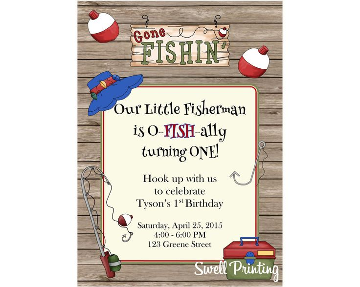 153 best Jacks 4th Bday Party images – Fishing Party Invitations