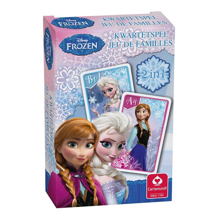 Disney Frozen Kwartet- en Actiespel. Afmeting:verpakking 10 x 6,5 x 1,5 cm. - Disney Frozen Kwartet- en Actiespel