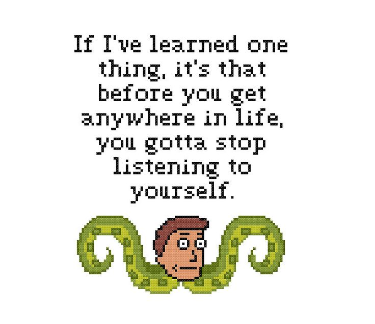 Free Jerry Quote Cross Stitch Pattern Rick and Morty by Cross Stitch Quest
